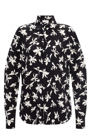Floral motif shirt od Saint Laurent