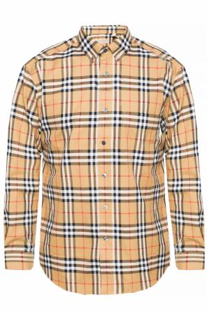 Shirt with a plaid motif od Burberry