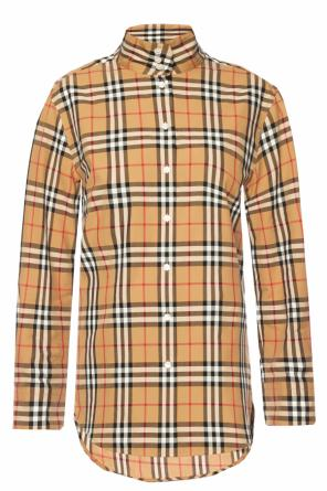 Shirt with stand-up collar od Burberry