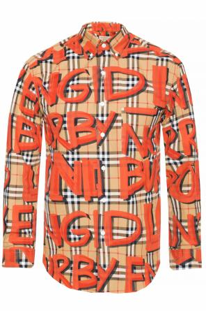 Shirt with a printed logo od Burberry