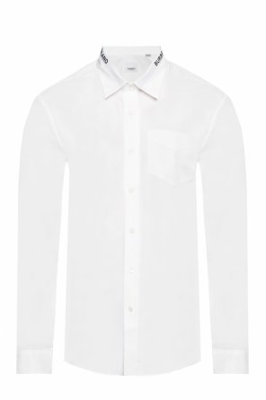 Logo-embroidered shirt od Burberry