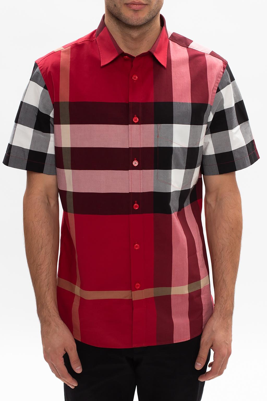 Burberry Short-sleeved check shirt