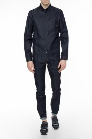Denim shirt with logo od Dior