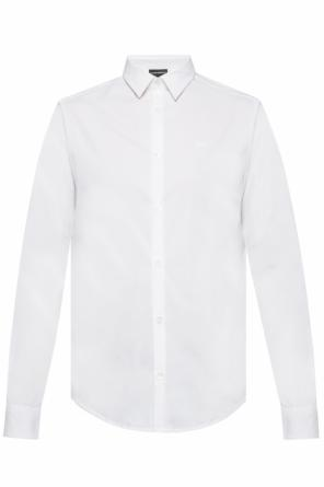 Logo-embroidered shirt od Emporio Armani