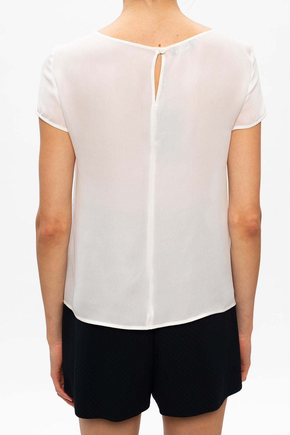 Emporio Armani Short-sleeved silk top