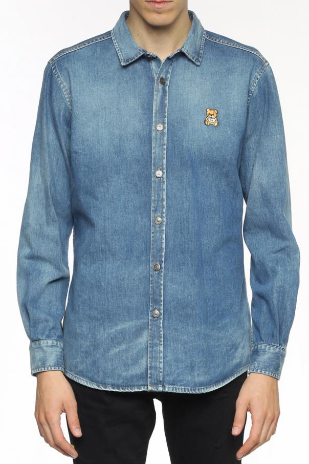 f6f2b36f7 Teddy bear-embroidered denim jacket Moschino - Vitkac shop online