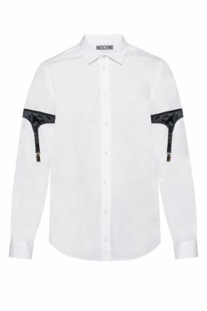 Shirt with a decoration od Moschino