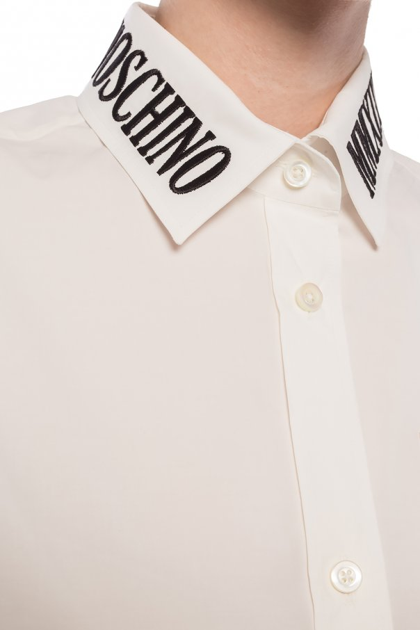 Logo-embroidered shirt od Moschino