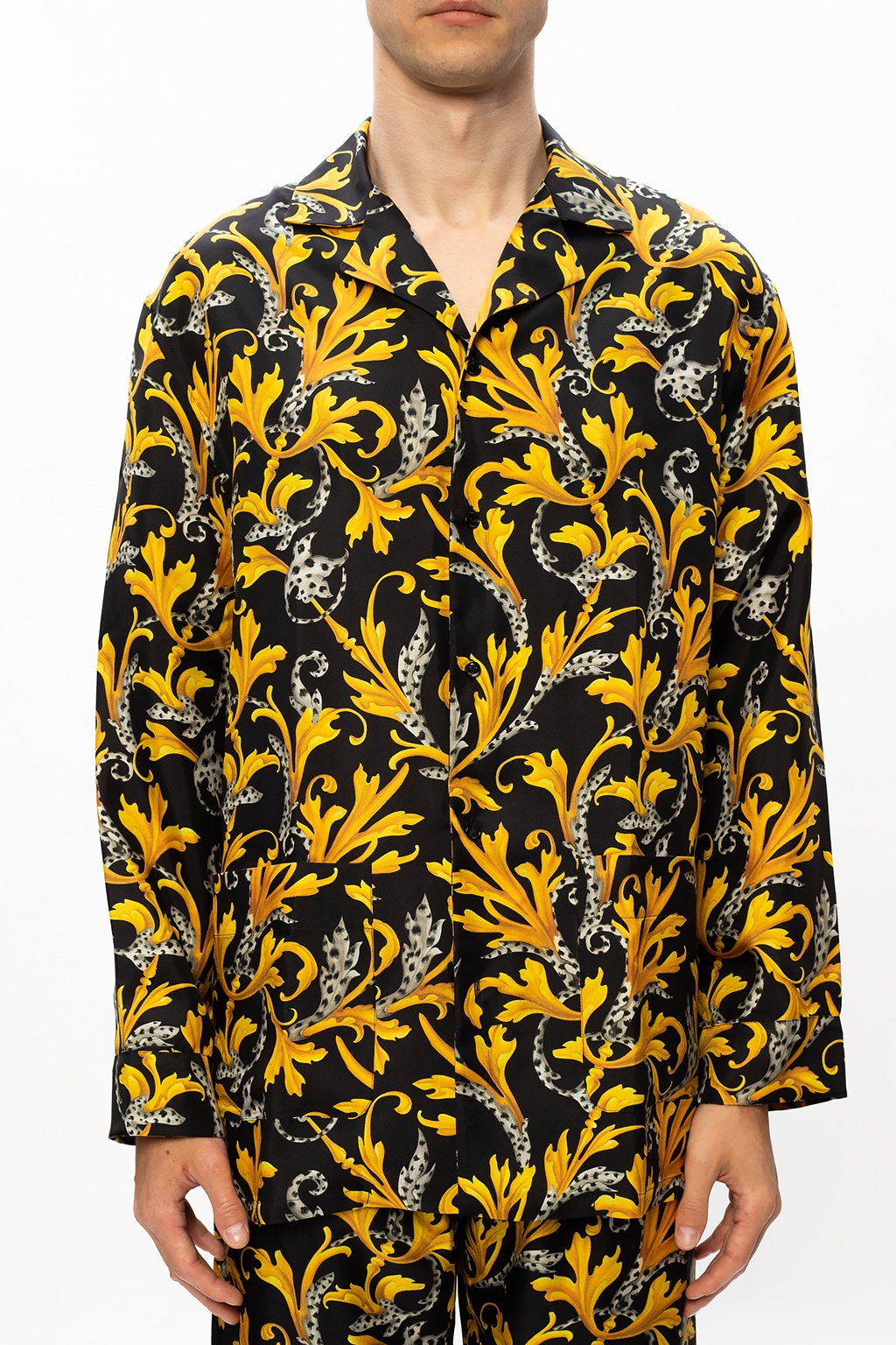 Versace Printed silk shirt