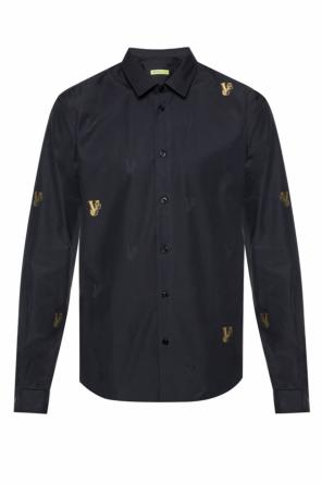 Logo-embroidered shirt od Versace Jeans