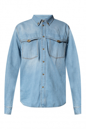 Denim shirt with logo od Versace Jeans Couture