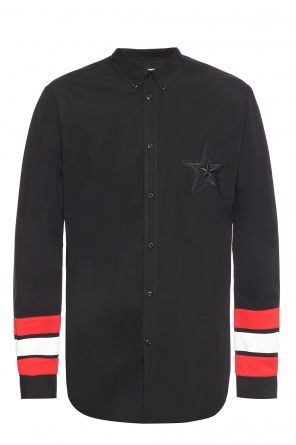 Shirt with insert at cuffs od Givenchy
