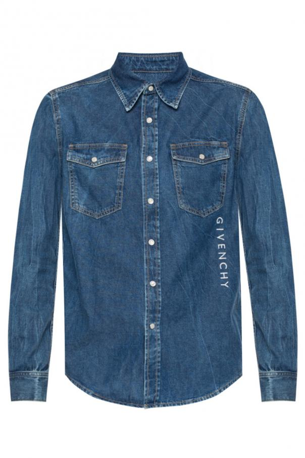 Branded denim shirt od Givenchy