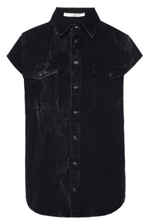 Distressed denim shirt od Givenchy
