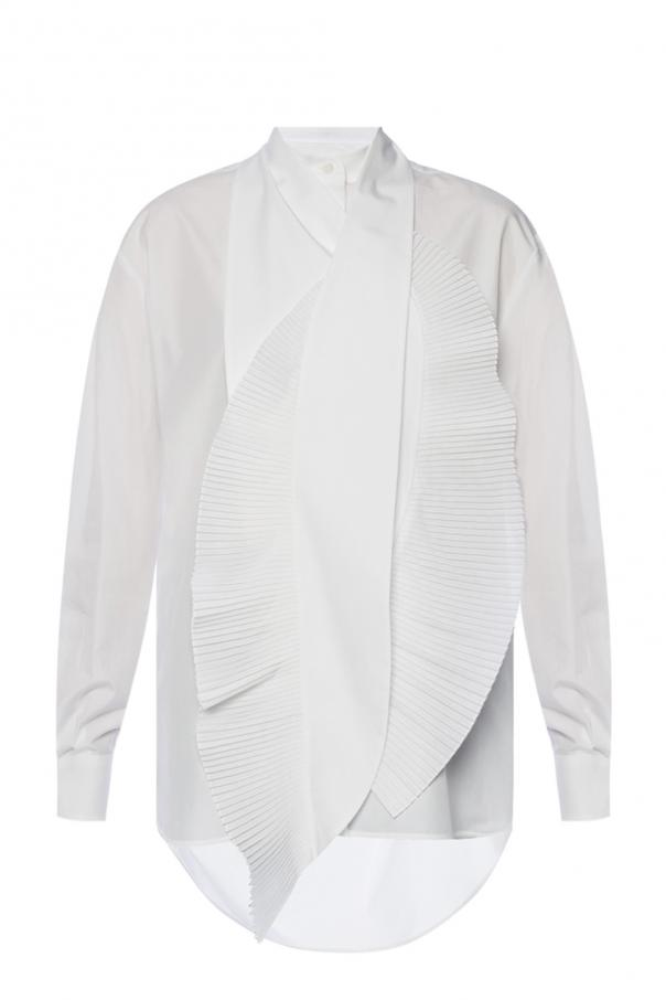 Elongated shirt with pleated inserts od Givenchy