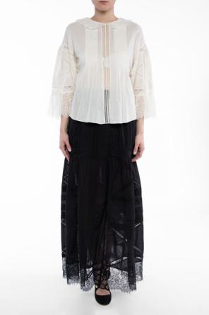 Lace-trimmed blouse od Diesel