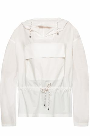 Sheer hooded sweatshirt od Dries Van Noten