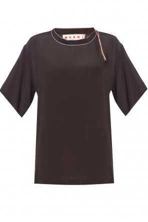 Top with decorative stitching od Marni