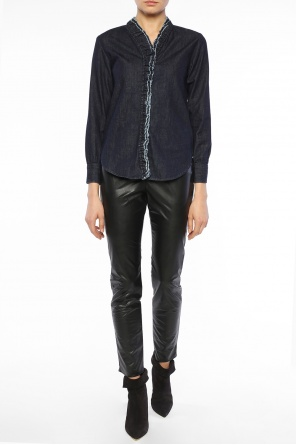 Denim shirt with ruffle od Isabel Marant