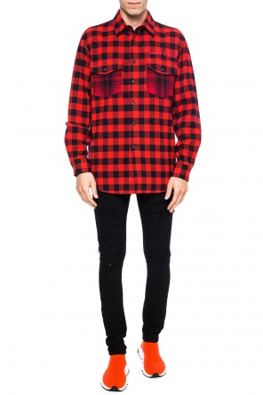 Long checked shirt od Marcelo Burlon