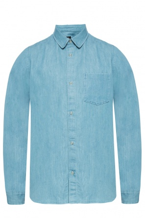 Cotton shirt with a collar od APC
