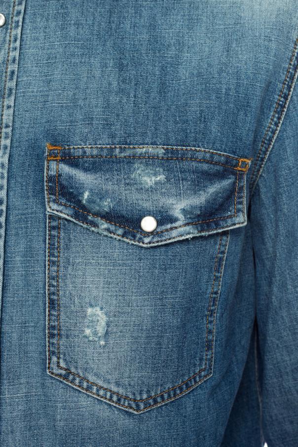 d9ae1a6a100 Distressed denim shirt Diesel - Vitkac shop online