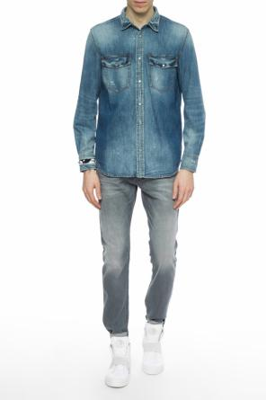 Distressed denim shirt od Diesel