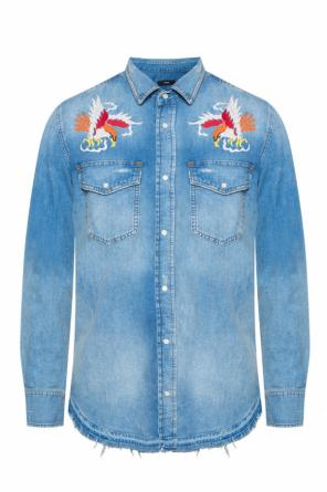Embroidered denim shirt od Diesel