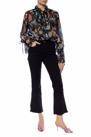 Floral-printed top od Etro