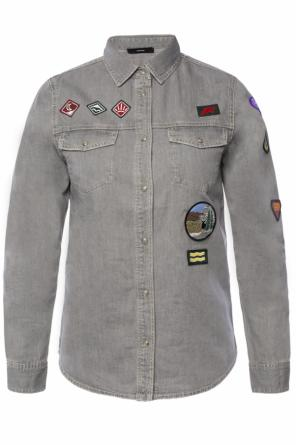 Denim shirt with patches od Diesel