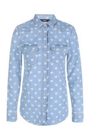 Printed denim shirt od Diesel