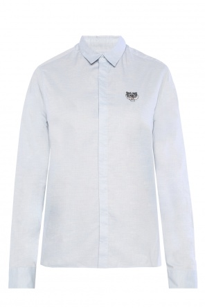 Tiger head-embroidered shirt od Kenzo