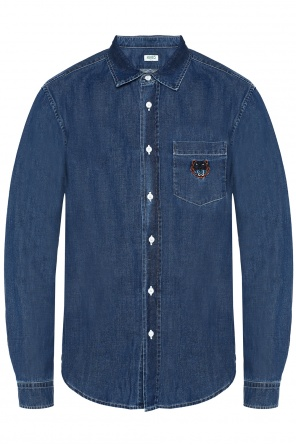 Embroidered denim shirt od Kenzo