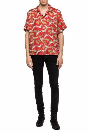 Patterned shirt with short sleeves od Amiri