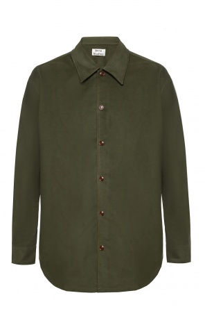 Shirt with fabric imitating suede od Acne