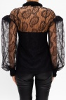 Fendi Semi-sheer shirt w/ band collar