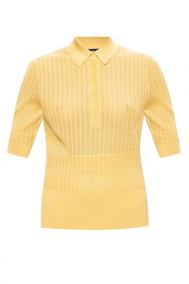 Dolce & Gabbana Openwork polo shirt