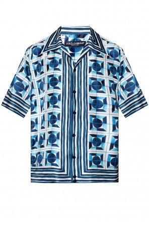 Patterned shirt with short sleeves od Dolce & Gabbana