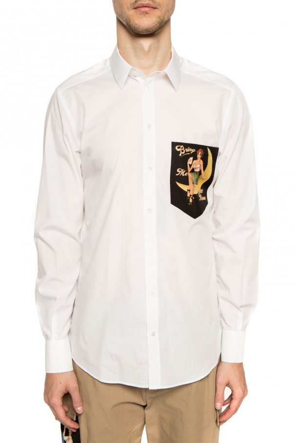 Dolce & Gabbana Koszula z nadrukiem KKPr6ZIn