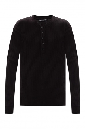 Ribbed top with long sleeves od Dolce & Gabbana