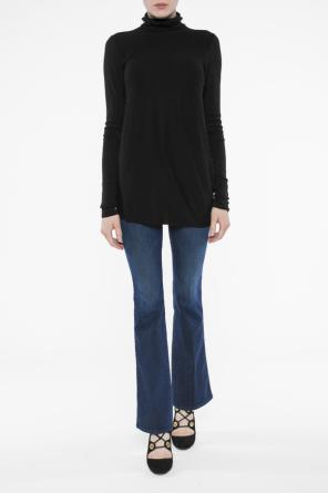 Embellished turtleneck sweater od Helmut Lang