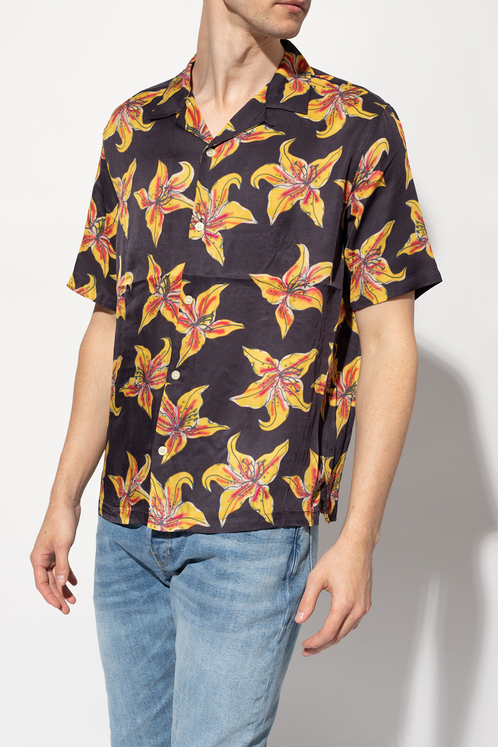 AllSaints 'Hibiscus' shirt with short sleeves