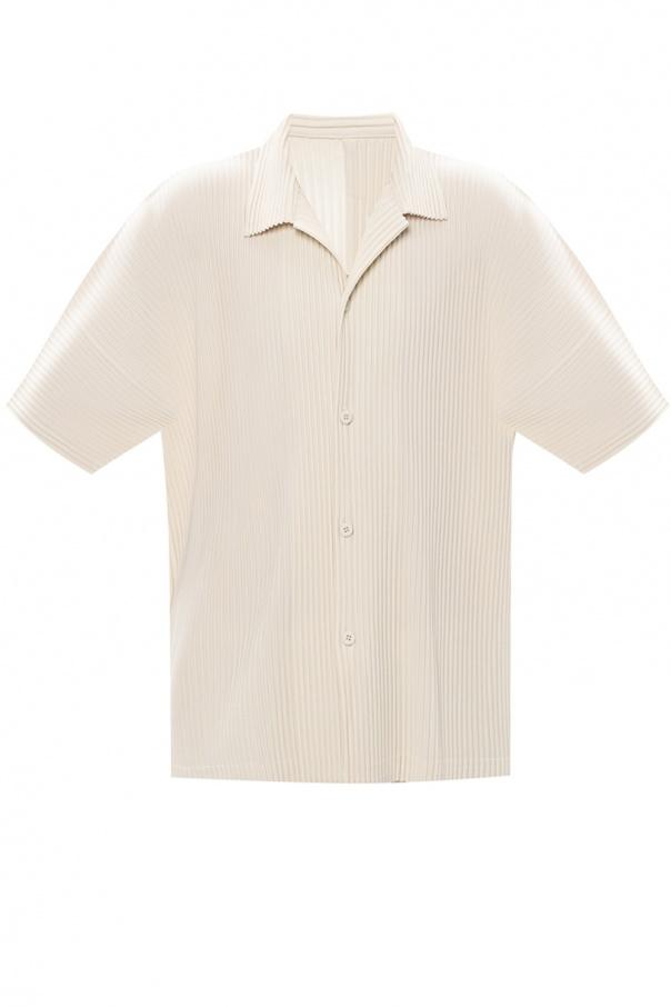 Issey Miyake Homme Plisse Pleated short-sleeved shirt