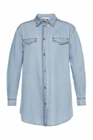 Studded denim shirt od Moschino