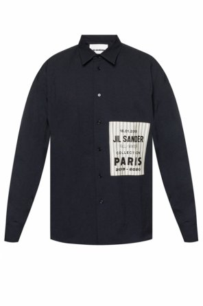 Logo-patched shirt od JIL SANDER