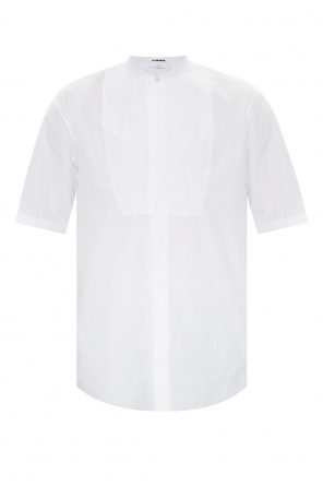 Long shirt with standing collar od JIL SANDER