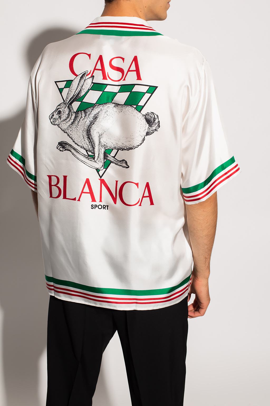 Casablanca Silk shirt with short sleeves