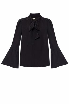 Tie-up silk top od Michael Kors