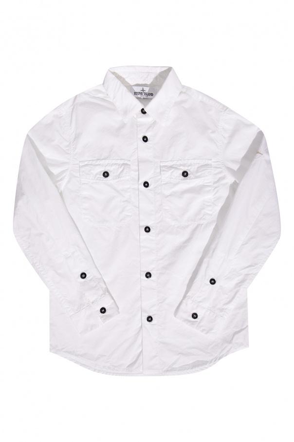 Stone Island Kids Shirt with collar