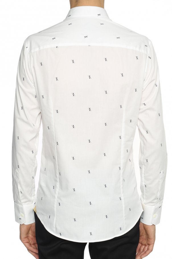 Logo-printed fitted shirt od Billionaire